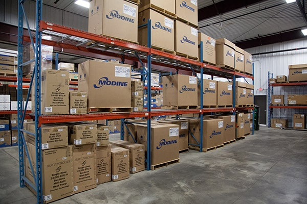 RHI Supply warehouse full of HVAC/R parts and supplies.